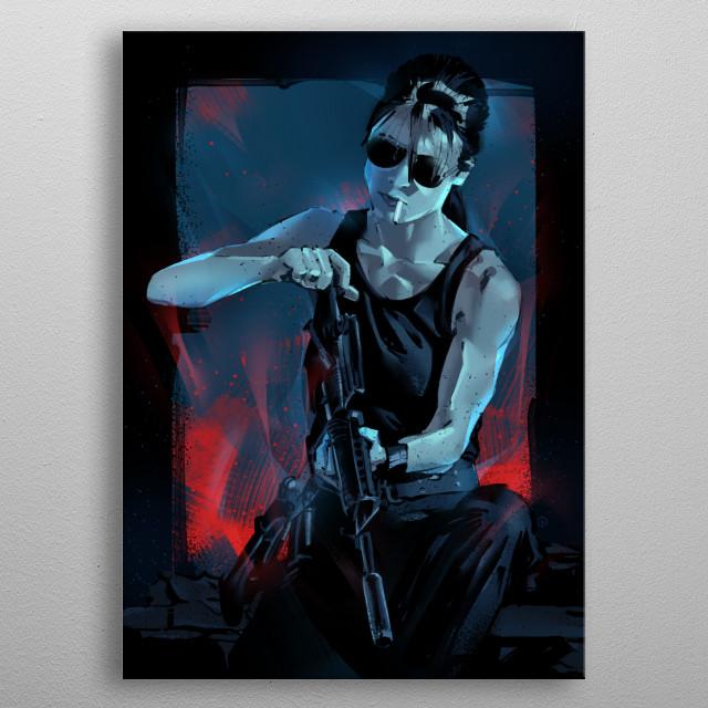 Sarah Connor. metal poster