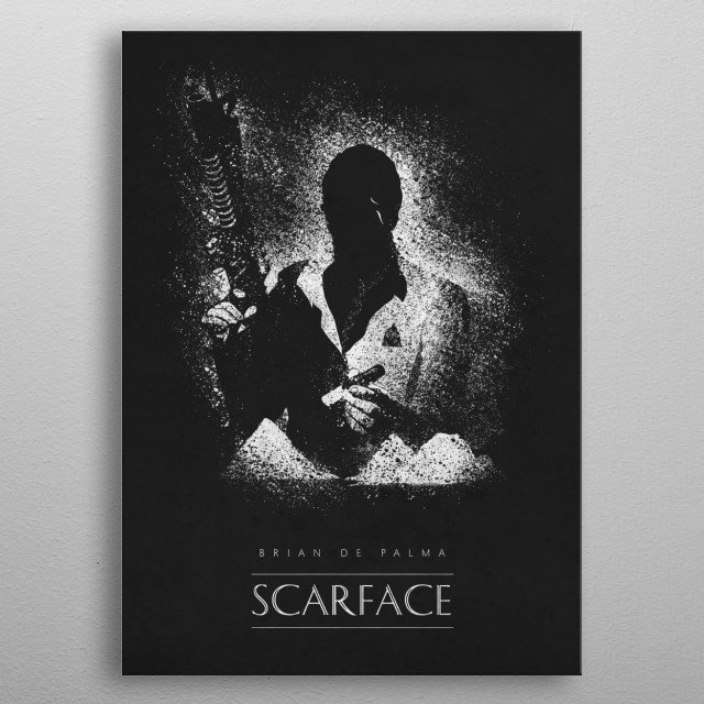 Scarface metal poster
