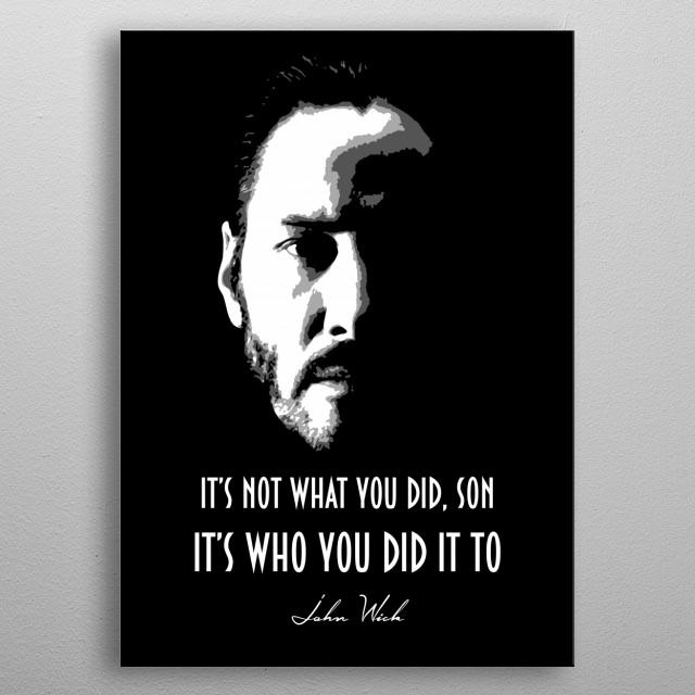 John Wick v1.0 metal poster
