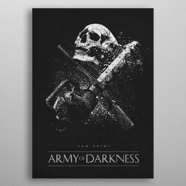 Army of Darkness metal poster