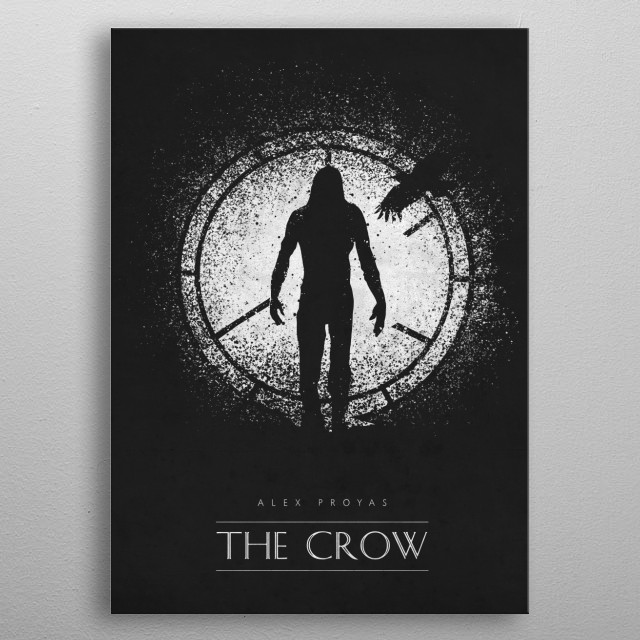 The Crow metal poster