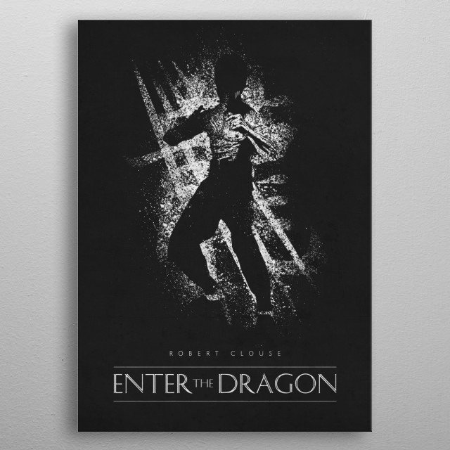 Enter the Dragon metal poster