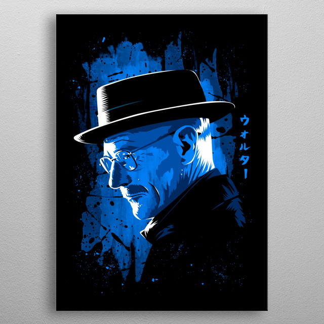 Stain blue metal poster