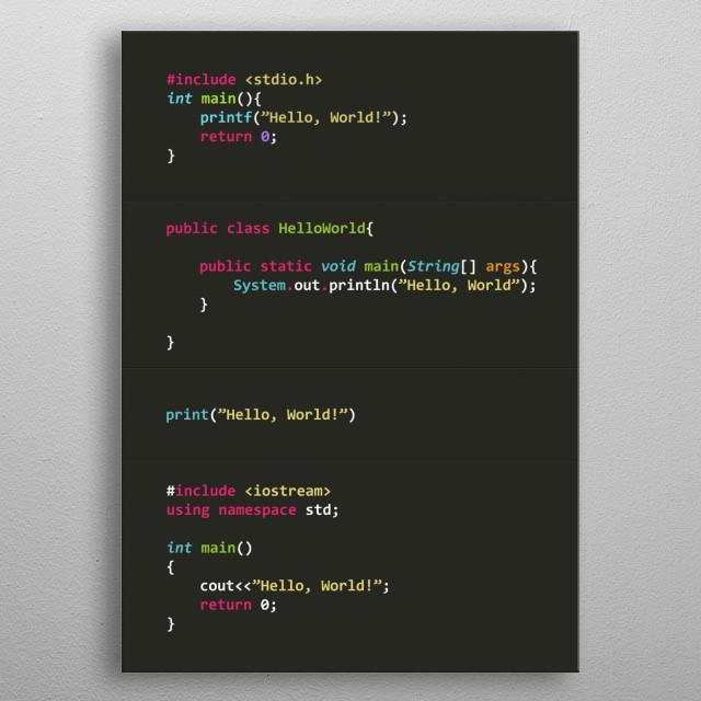 Programmer poster serie Hello World! metal poster