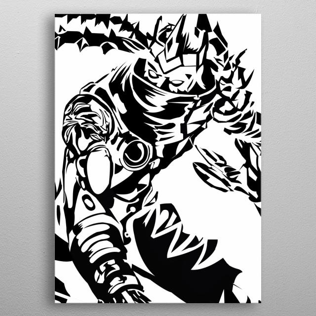 Varus Vector LoL ADC metal poster