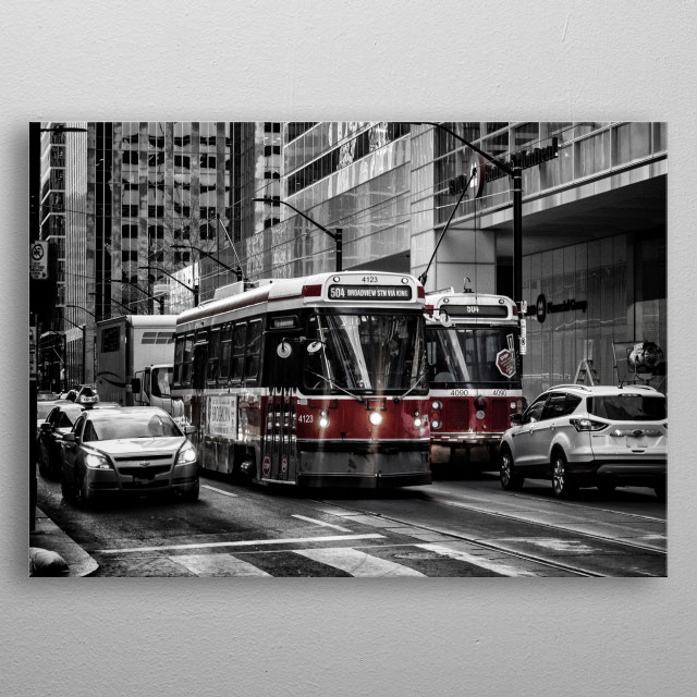 Taken in the Downtown District, in Toronto, Ontario, Canada.  metal poster