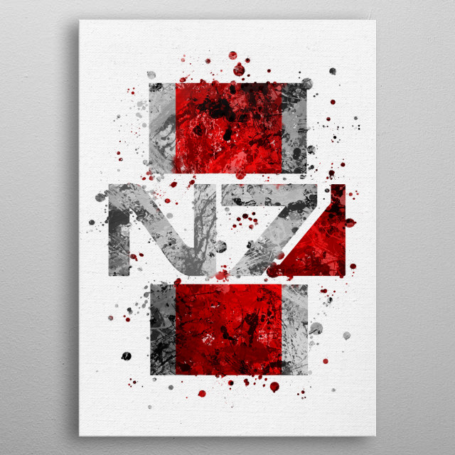 Mass Effect - N7 metal poster