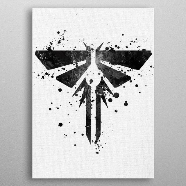 Last of Us - Firefly metal poster