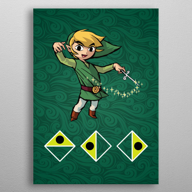 The Legend of Zelda: Wind Waker poster of Wind's Requiem song. metal poster