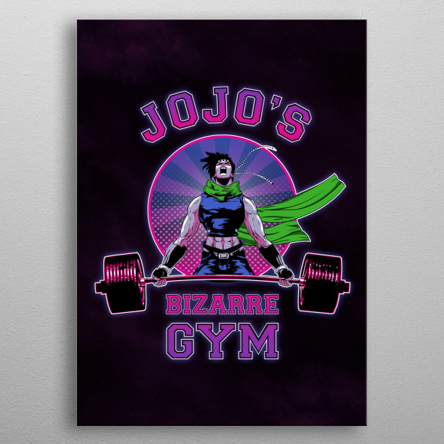 Bizarre Gym metal poster