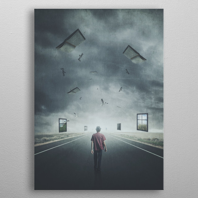 The Dream Walker metal poster