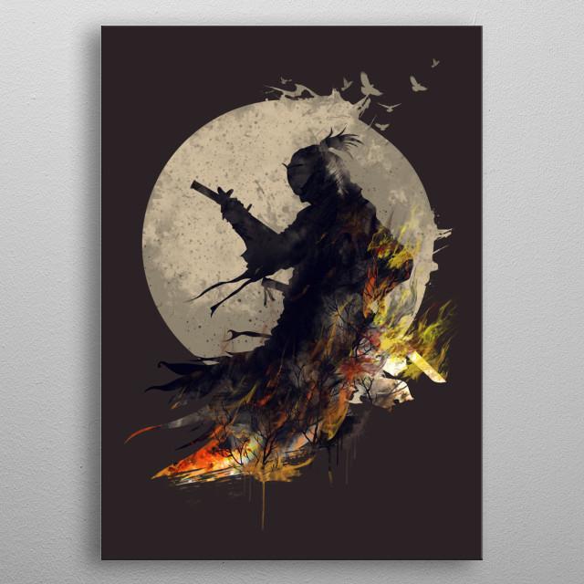 Blazing Samurai 2 metal poster
