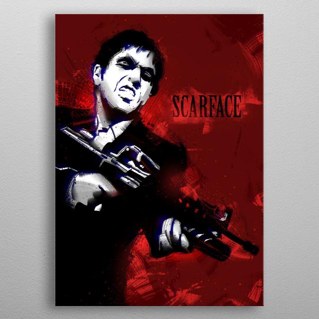 Scarface. metal poster