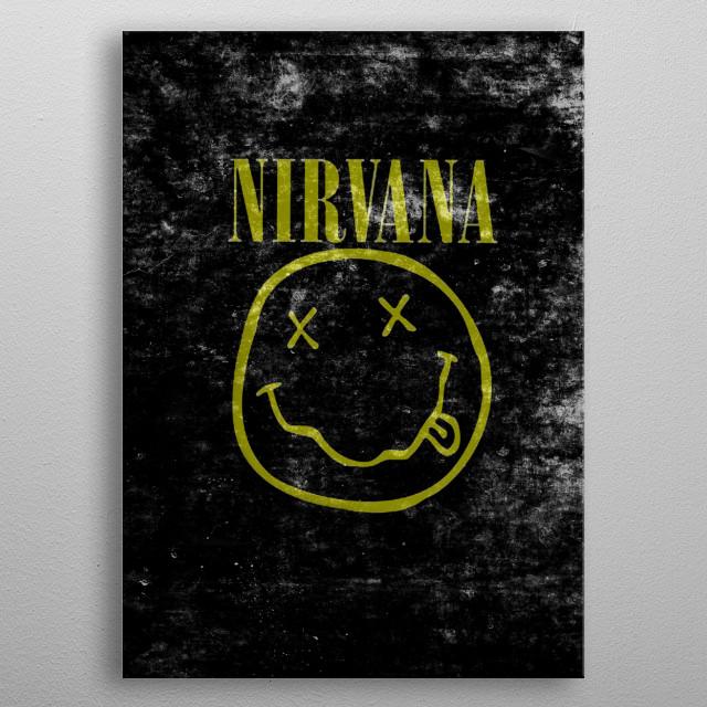 Nirvana logo metal poster