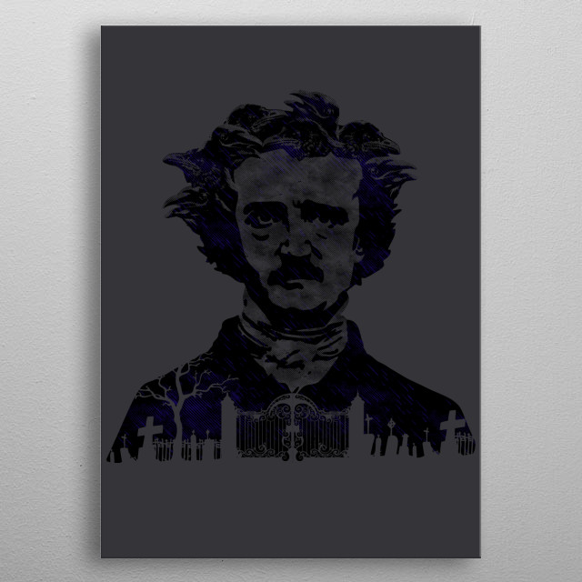 Inspired by the popular American writer Edgar Allan Poe. I hope you like it! :) metal poster