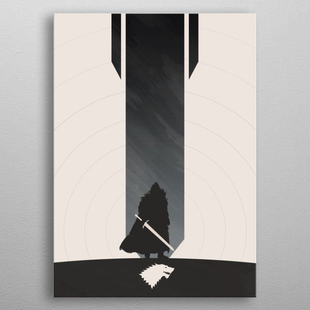 The King in the North metal poster