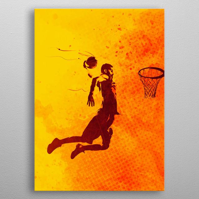 Heat of Basketball2 metal poster