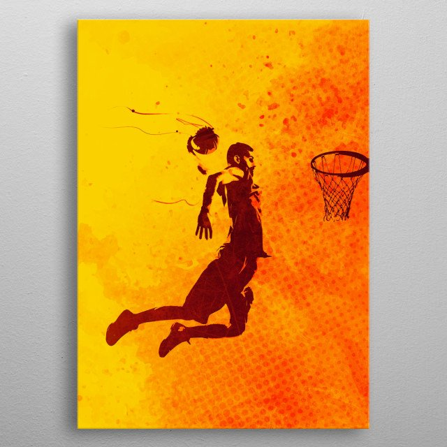 High-quality metal print from amazing Heat Of The Sport collection will bring unique style to your space and will show off your personality. metal poster