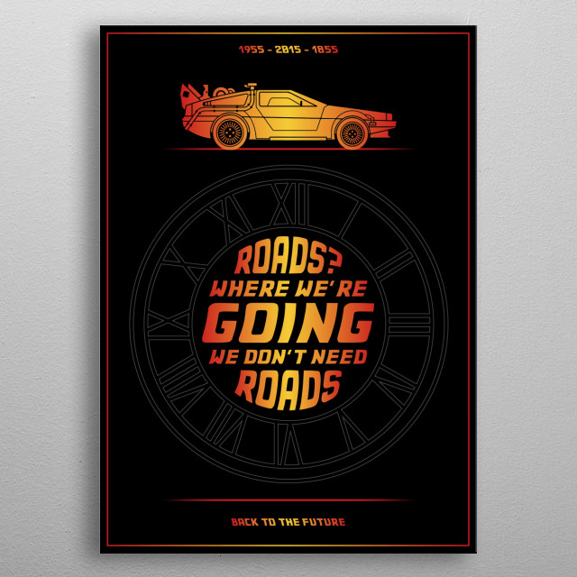 #9 - Back to the future - Typo Minimalist Poster metal poster