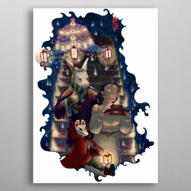 High-quality metal print from amazing Luna World collection will bring unique style to your space and will show off your personality. metal poster