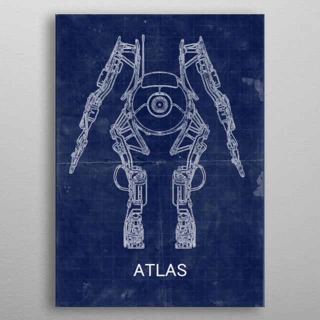 Atlas blueprint poster metal poster