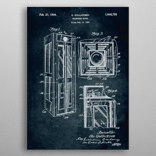 No280-1931-Telephone booth-O. Gullicksen metal poster