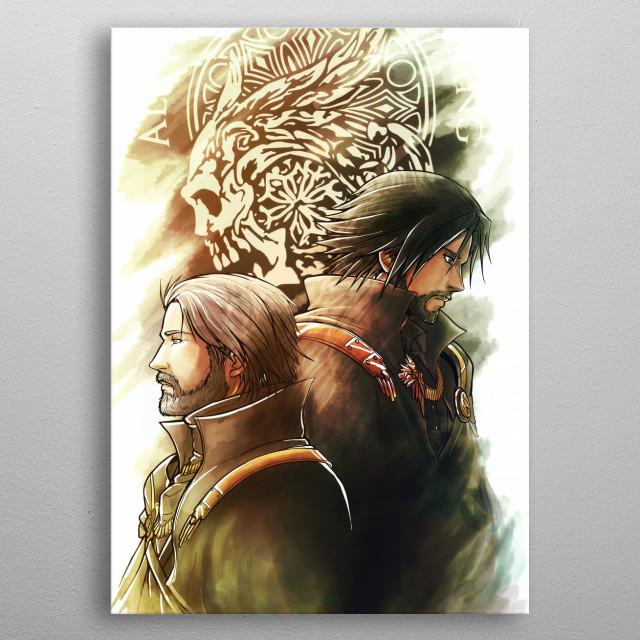 King and Prince metal poster