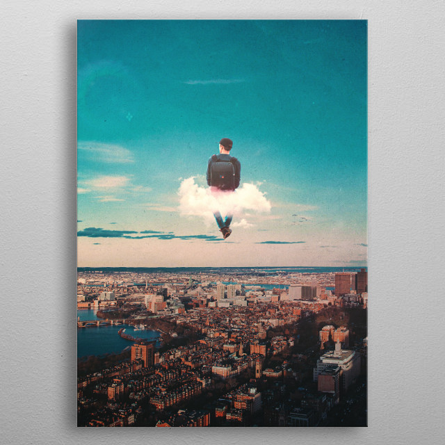 High In The Sky  metal poster