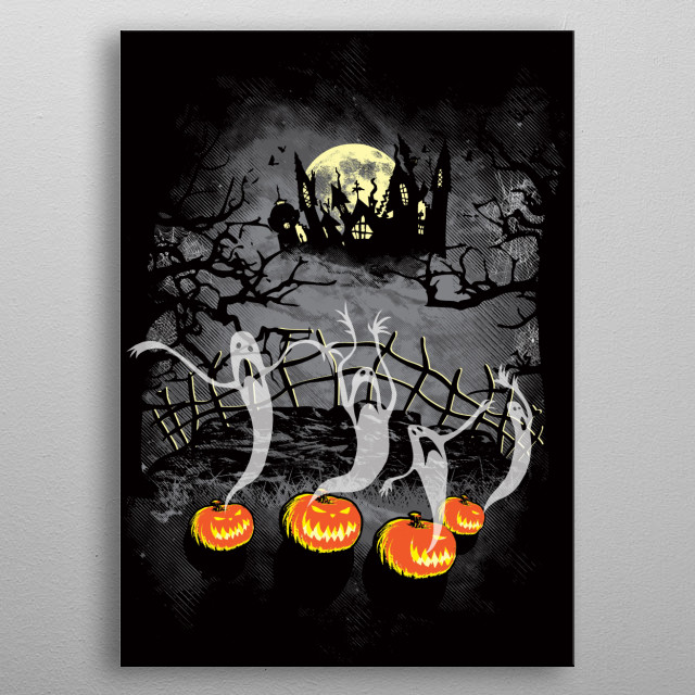 Ghosts Of Halloween metal poster