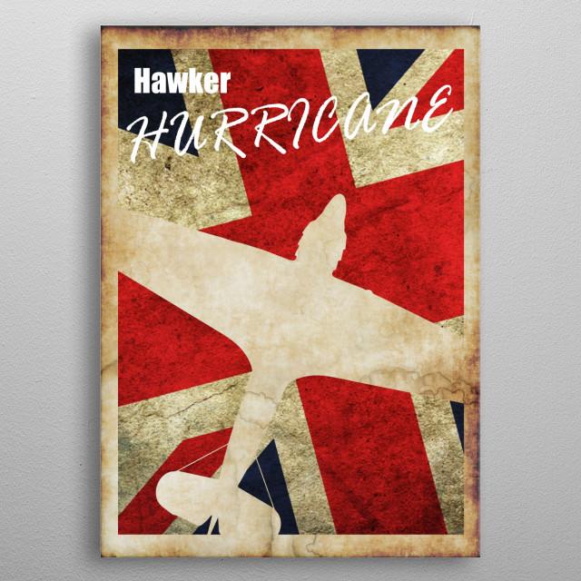 Hawker Hurricane Vintage WW2 poster metal poster