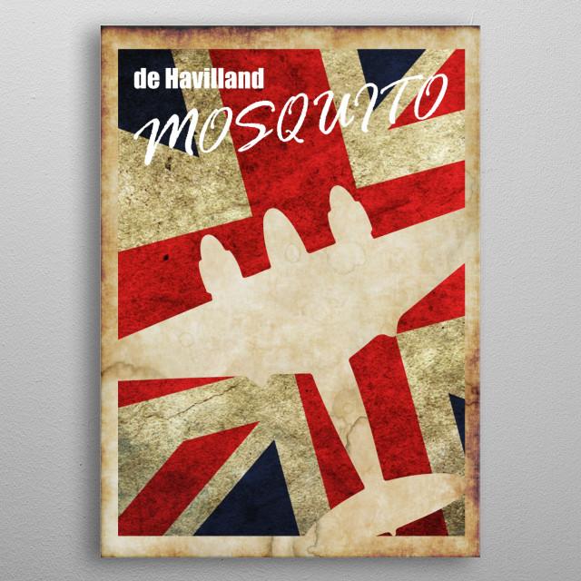 de Havilland Mosquito Vintage WW2 poster metal poster