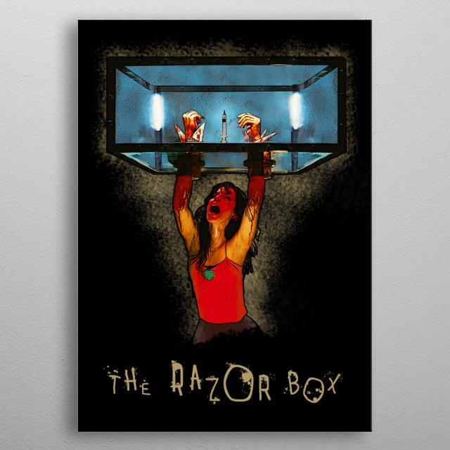 SAW - The Razor Box metal poster