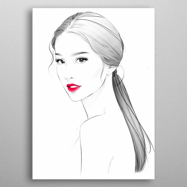 High-quality metal print from amazing Portraits collection will bring unique style to your space and will show off your personality. metal poster