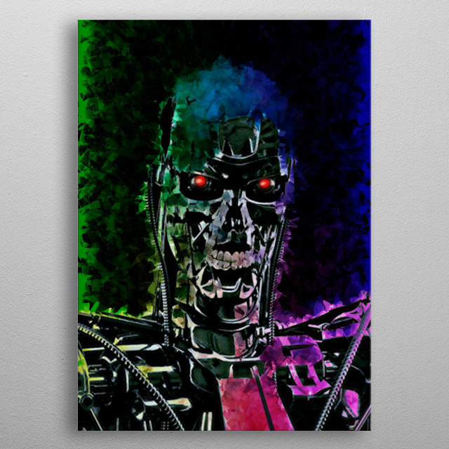 Terminator illustration  metal poster