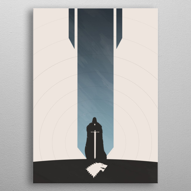 Warden of the North metal poster