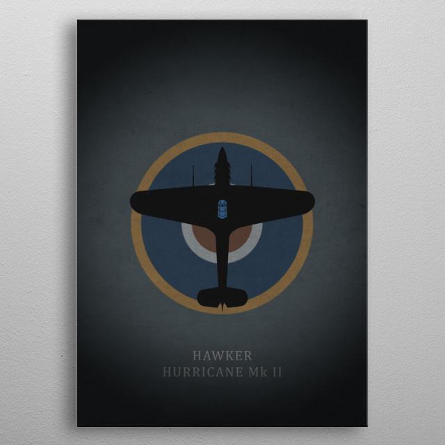 Hawker Hurricane Mk II metal poster