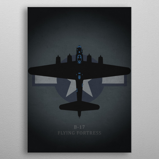 B-17 Flying Fortress metal poster