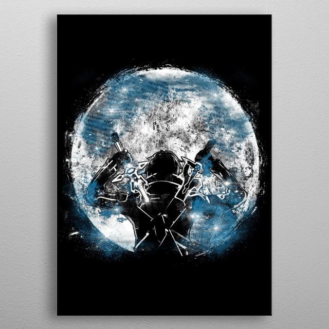 Master Dual Swordsman Kirito metal poster