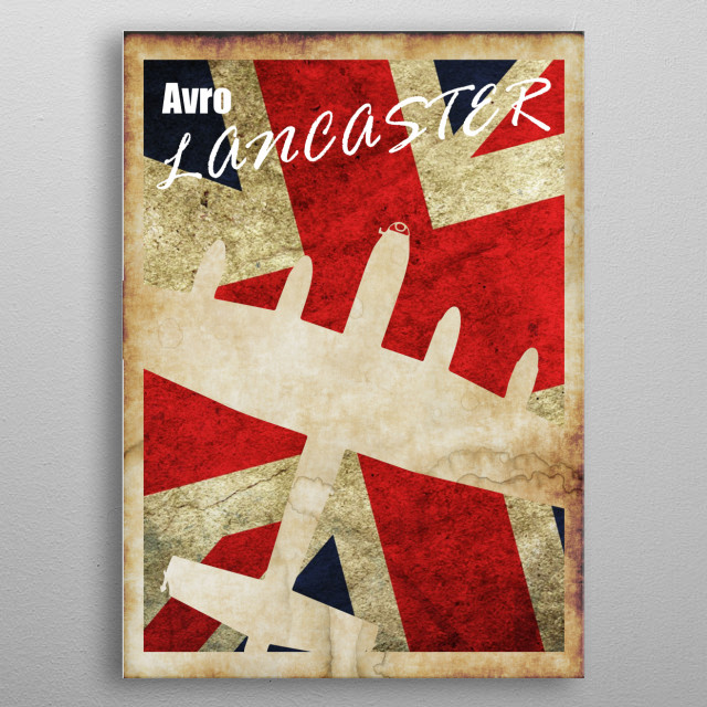 Vintage style Avro Lancaster WW2 poster metal poster