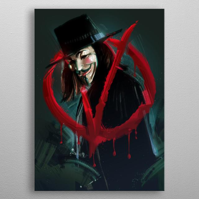 V for Vendetta metal poster
