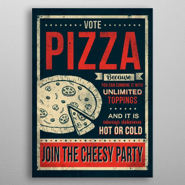 Cheesy Party metal poster