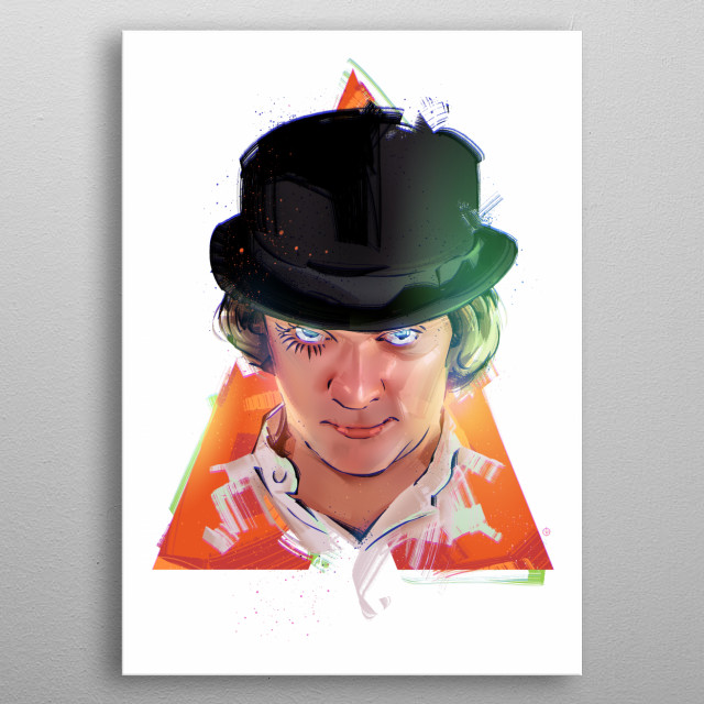 Clockwork Orange metal poster