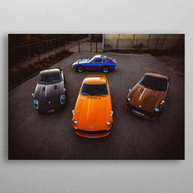 Datsun Z meet metal poster