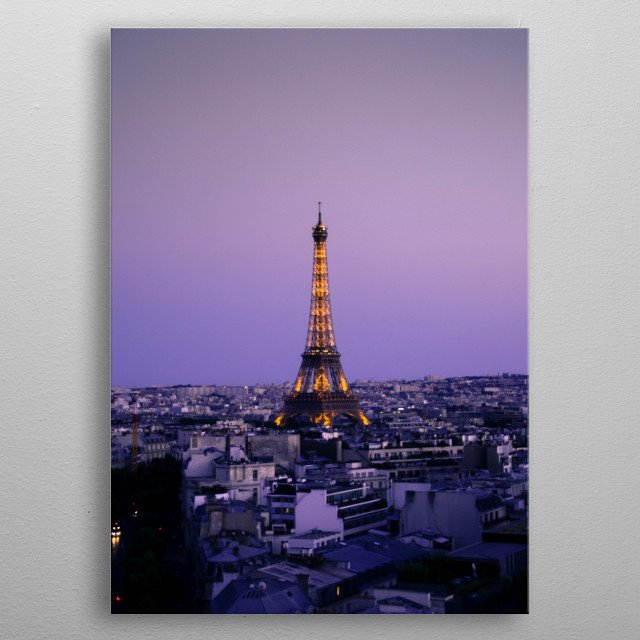 High-quality metal print from amazing Cities collection will bring unique style to your space and will show off your personality. metal poster