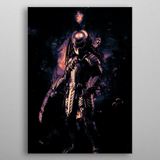 Predator Death Stare metal poster