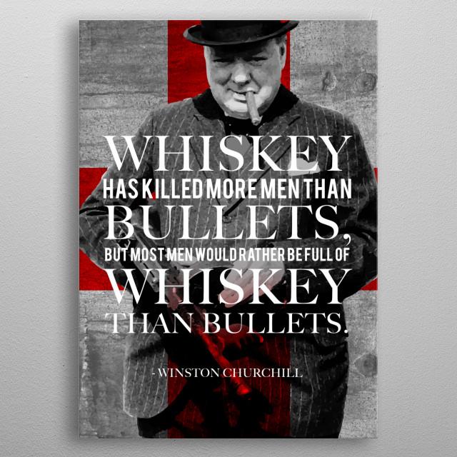 Winston & Whiskey metal poster