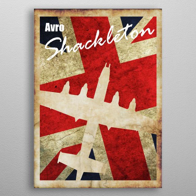 Avro Shackleton Vintage style WW2 poster metal poster