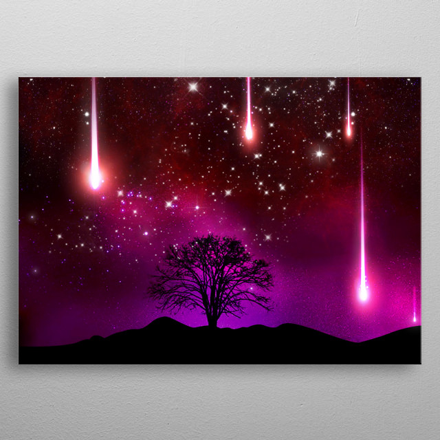 Galaxy Tree metal poster