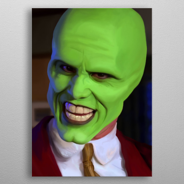 The Mask metal poster