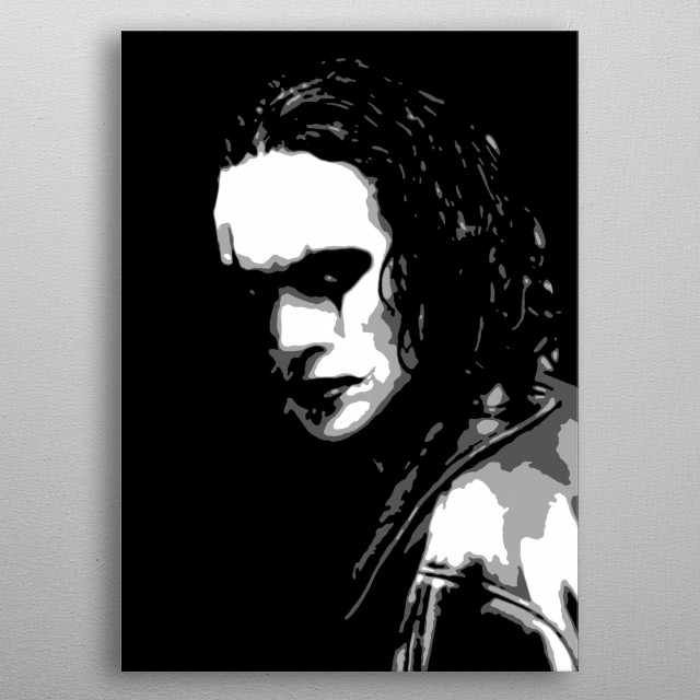 The Crow v1.0 metal poster